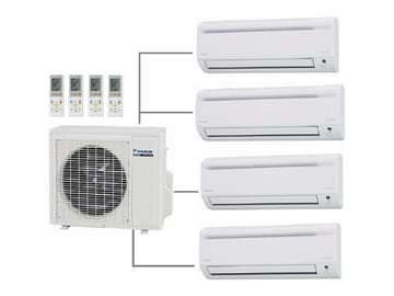 multi-head split system air conditioner diagram